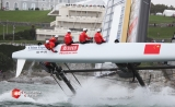 The Chinese team in the America's Cup World Series