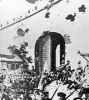 Photograph of the revolutionary army of Zhejiang entering Nanjing City after the capture.