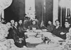 Sun Yat-sen in charge at the first cabinet meeting of the Provisional Central Government on January 5,1912